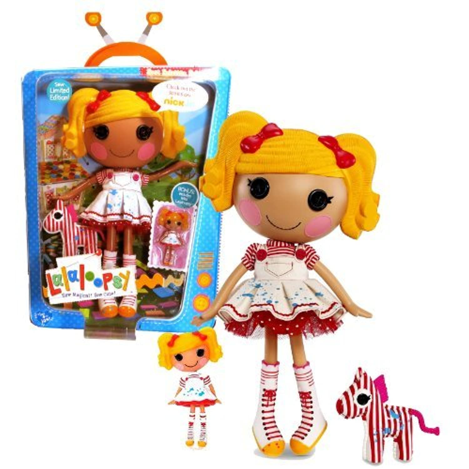 MGA Entertainment Lalaloopsy Sew Magical! Sew Cute! Limited Edition 12 Inch Tall Button Doll - Spot Splatter Splash with Pet Zebra and Bonus Mini 3 Inch Tall Lalaloopsy Doll by Lalaloopsy [並行輸入品]