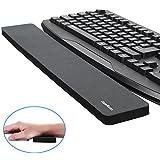 CamRomキーボードリストレスト/リストパッド、標準のキーボードおよび完全な長さ機械的キーボードのために、ネオプレン表面を持つ人間工学的なデザイン、洗濯可能、容易なタイピング&苦痛リリーフのための丈夫&快適&軽量級