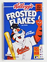 Baltimore Orioles Cerealボックス冷蔵庫マグネット(2 x 3インチ)
