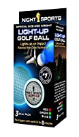 Night Sportsライトアップゴルフボール(3- Pack)