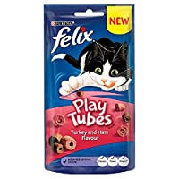 [Felix] フェリックスプレイチューブ猫は七面鳥&ハム50グラムを扱います - Felix Play Tubes Cat Treats Turkey & Ham 50G [並行輸入品]