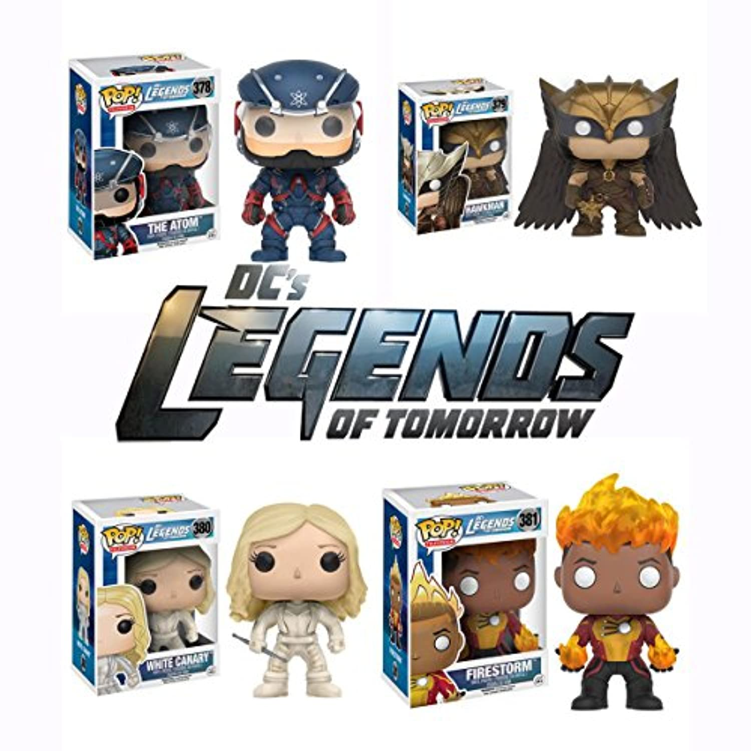 Pop! TV: DC's Legends of Tomorrow - The Atom, Hawkman, White Canary, and Firestorm Vinyl Figures! Set of 4 by Legends of Tomorrow