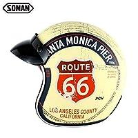 SOMAN SM512 アメリカンハーレーヘルメット バイカー ビンテージ バイザー (5, S)