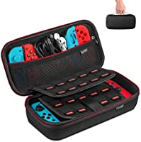 Carrying Case for Nintendo Switch, Keten Switch Case with 19 Game Cartridges, Upgraded Protective Portable Hard Shell...