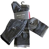 Michael Kors Men's Dress Socks 3 Pack Patterned Grey