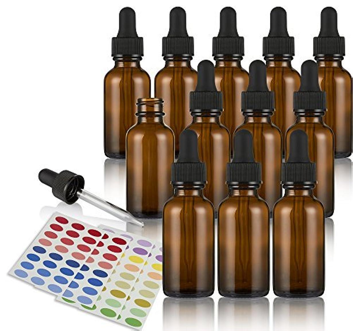 カロリー書道間Glass Dropper Bottle ? 12 Pack Glass Eye Dropper Dispenser for Essential Oils, Kitchen Tools, Chemistry Lab Chemicals...