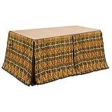 ハイタイプ/ダイニングこたつ布団 長方形150×90巾コタツ用 タータン柄150 高脚用薄掛け布団