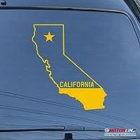 3s MOTORLINE CaliforniaマップCali State Republic Starデカールステッカー車ビニールPickサイズカラー 20'' (50.8cm) ブラック 20180509s1