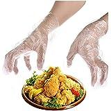 Heyuni.使い捨て手袋 極薄ビニール手袋 ポリエチレン 透明 実用 衛生 100枚