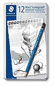 ステッドラー ルモグラフ製図用高級鉛筆 100G12 12硬度セット