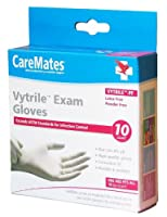 CarMates Gloves, Vytrile Exam, Powder Free, Latex FREE, 10 Count by CareMates