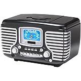 クラウスレイラジオCr612-BKコルセア目覚まし時計/ラジオ/CD(ブラック) 並行輸入
