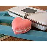 食品サンプル屋 食品サンプル 携帯ストラップマカロンハート ピンク 02P03Dec16