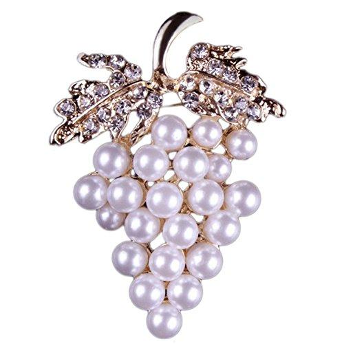 [해외]Doitsa 브로치 가슴 중공 모조 진주 포도 빛나는 선물 선물 반짝/Doitsa brooch breast hollow rhinestone pearl grape shining gift glitter