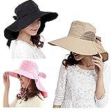 ルイ・ヴィトン (コズミックツリー)COSMIC TREE シャカシャカ素材 サイド メッシュ 通気性 ケープ 付 つば広 帽子 UV は女性の敵 完全ガード 日除け ハット 15-17