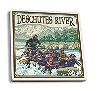 Deschutes川ラフティング–曲げ、または 4 Coaster Set LANT-8519-CT