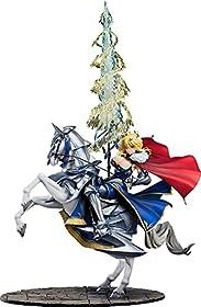 原型制作:POLY-TOYS彩色:いわびつ制作協力:ehenmushi大人気スマホゲーム『Fate/Grand Order』より、ランサークラスのサーヴァント「アルトリア・ペンドラゴン」を、霊基第三段階の衣装でスケールフィギュア化。愛馬「ドゥン・スタリオン」に跨る姿は「騎士王」の名に恥じぬ雄々しさと、大人びた雰囲気を醸し出しており、今まさに宝具を放たんとする迫力ある姿を再現いたしました。大きくはためくマントの真紅、麗しい身体のラインが顕になった衣装の瑠璃、頑強かつ美しい流線型を描いた鎧の白銀、そ...