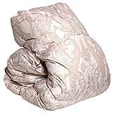 タンスのゲン 日本製 ロイヤルゴールドラベル 羽毛布団 シングルロング ホワイトダックダウン93% 400dp以上 かさ高165mm以上 消臭 除菌 防カビ 襟丸ピンク 10419204 01