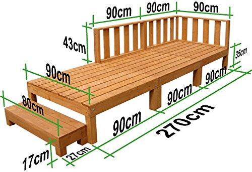 igarden アイガーデン ウッドデッキ2点セットライトブラウン アイガーデンオリジナル天然木製ウッドデッキ、ウッドデッキセット、木製デッキ、縁台