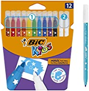 BIC Kids Colour & Erase Magic Felt Pens - Assorted Colours, Pack of 12