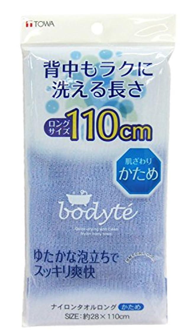 ダイヤルさびた写真BO ナイロンタオル ロング かため (縦28×横110cm) ブルー