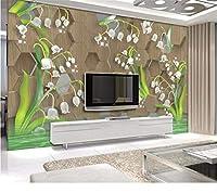 Weaeo モダンファッション3D壁紙クリスタルチューリップ壁画壁画壁紙の壁紙-250X175Cm