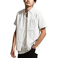 [ジップファイブ]ZIP FIVE ブロードボタンダウン半袖シャツ メンズ br7010