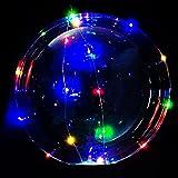 [大量注文可] MRG 光る風船 NEON TAIL ネオンテール ウェディング バースデー パーティ LED ライト イルミネーション バルーン パーティーバルーン 空気入れ付 (カラフル, 50個セット)
