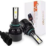 Safego 車用 HB4 9006 LED ヘッドライト60W 6000ルーメン DC 12V 高輝度 COB チップ搭載 LEDバルブ ホワイト 限定新発売12ヶ月保証 C6S-9006