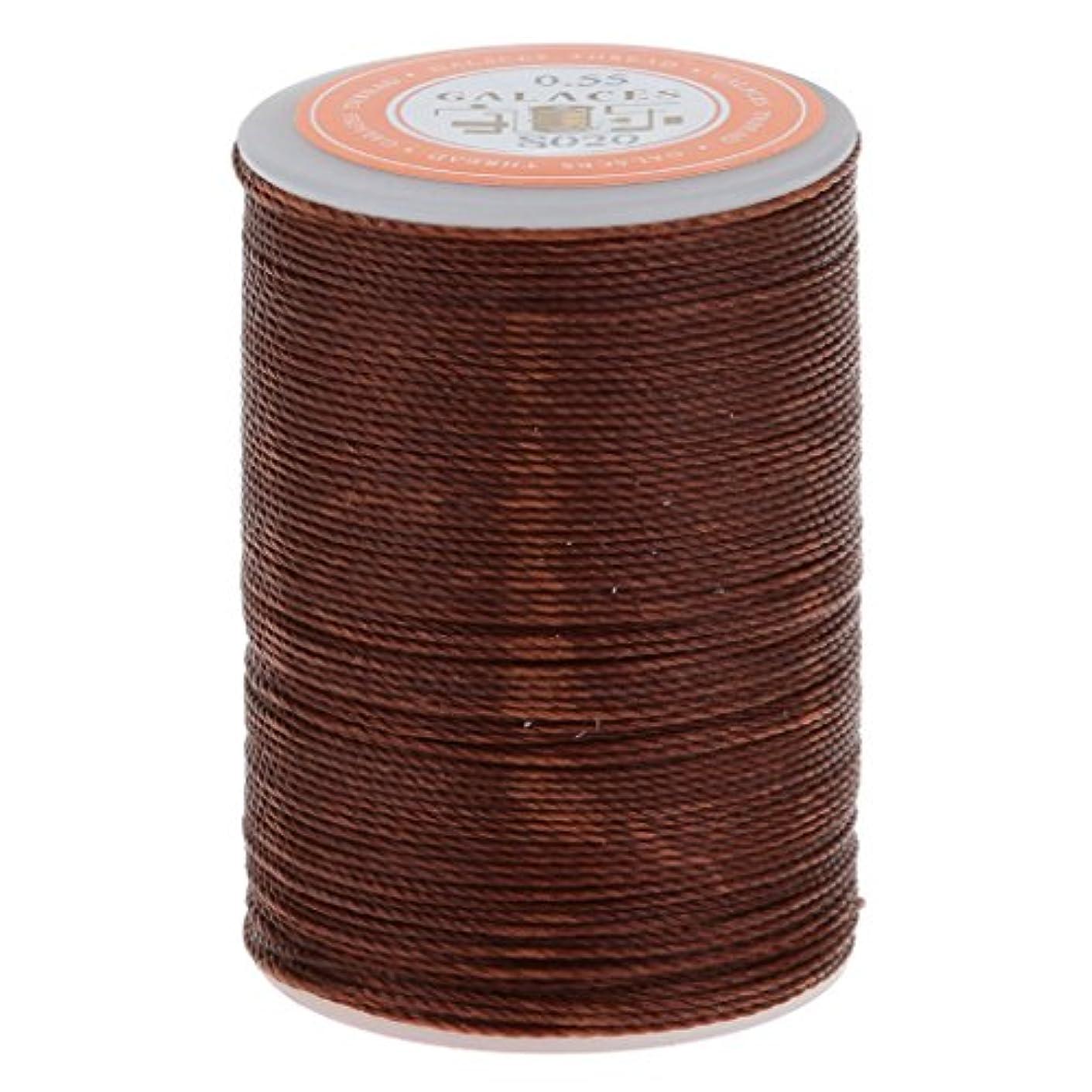干渉するムスコジオスコDovewill レザークラフト 手芸 縫製 ミシン糸 縫い糸 ワックひも 織りスレッド 実用 全2サイズ3色 - ダークブラウン, 0.55mm
