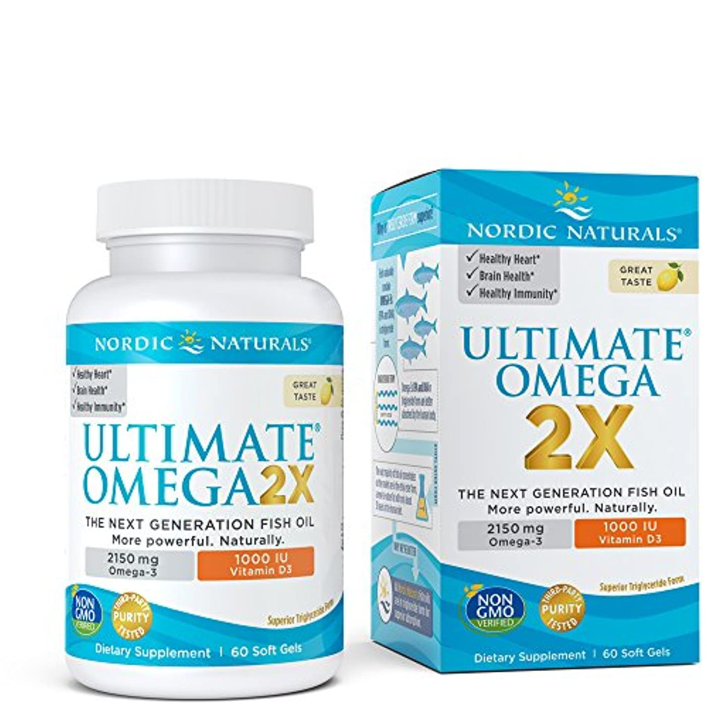 パーツ完全にシュリンクNordic Naturals Ultimate Omega 2x with D3, Lemon アルティメットオメガ 2x ウィズ D3 レモン味 60錠 [海外直送品]