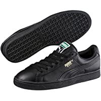 PUMA Men's Basket Classic Lfs, Black-Team Gold, Sneakers