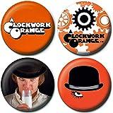 A Clockwork Orange ( 時計じかけのオレンジ ) バッジ 4ヶセット
