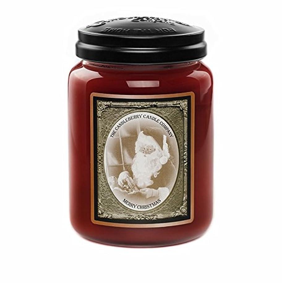 配分整理する感じるMerry Christmas 26オンスLarge Jar Candleberry Candle