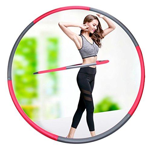 フラフープ ダイエット 組み立て ZLXC 6本組 フラフープ ダイエット 有酸素運動 大人の子供用 腹部フィットネスフラフープ サイズ調整可能 95cm フラフープ 重い トレーニングチューブ 運動 お腹 引き締め くびれ 腹筋 便秘 改善 細い腰痩身機器 SFSYZ01 フォームステンレス鋼