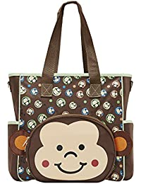 SOHO Franky the Monkey 10 pcs Deluxe Diaper Bag *Limited time offer* (Brown) by SoHo Designs