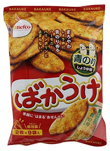 栗山米菓 ばかうけ青のり 18枚×12袋