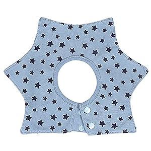 Seliyi ビブ ベビー 3枚セット スタイ 食事 エプロン 子供 男の子 新生児~30ヶ月 防水 肌に優しい 綿 4層厚さ 便利360°回転可 よだれかけ 星デザイン お洒落 出産祝い 保育園用 家用