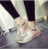 (チェリーレッド) CherryRed レディース 靴 シューズ カジュアルシューズ スニーカー 運動靴 脚長効果 美脚効果 軽量 履き心地よい 通気性 厚底 ファスナー 38 ピンク