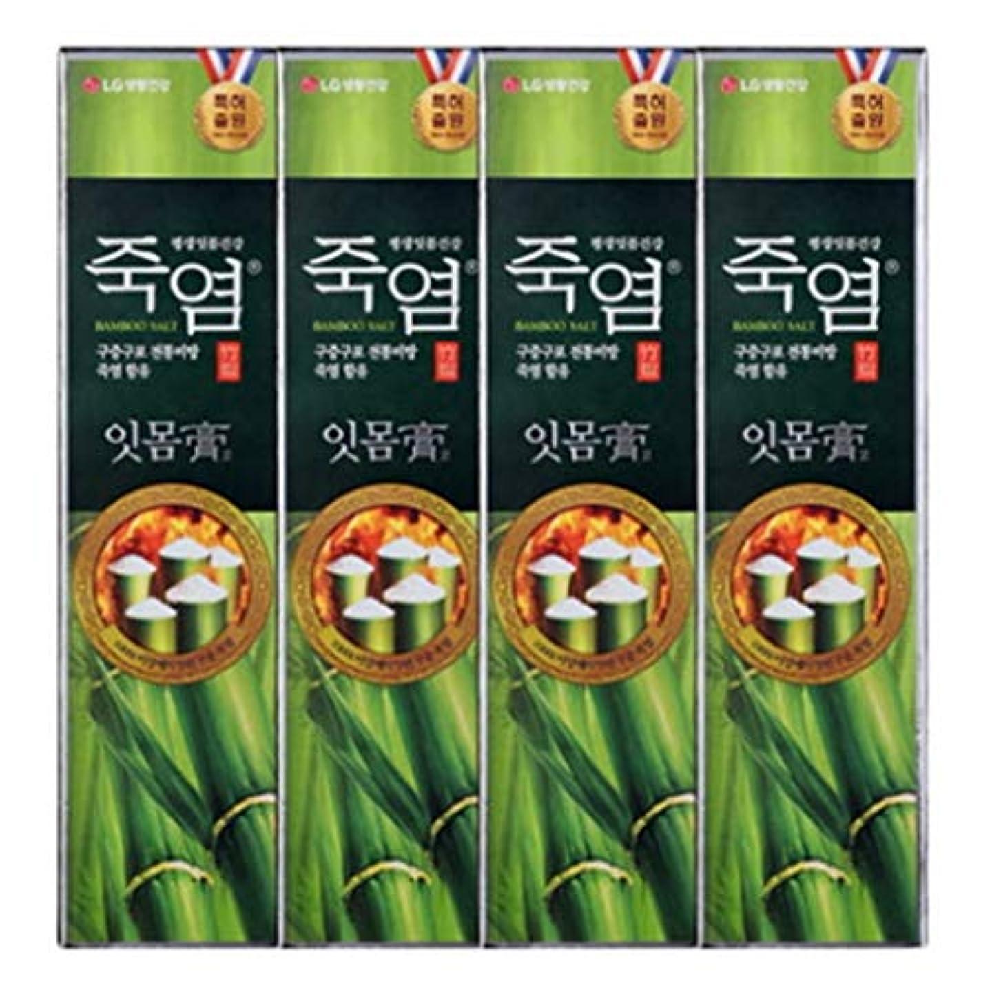 ブラジャーコンセンサス祖先[LG Care/LG生活健康]竹塩歯磨き粉歯肉を健康に120g x4ea / 歯磨きセットスペシャル?リミテッドToothpaste Set Special Limited Korea(海外直送品)