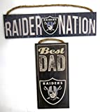 Best ワールドギフトでお父さん - Oakland Raiders Worlds Best Dad、壁飾り板上の2つのセットDad父の日。 Review
