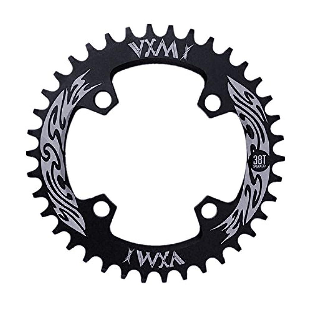 感情突然テントPropenary - Bicycle Crank & Chainwheel 96BCD 38T Ultralight Alloy Bike Bicycle Narrow Wide Chainring Round Chainwheel Cycle Crankset [ Black ]