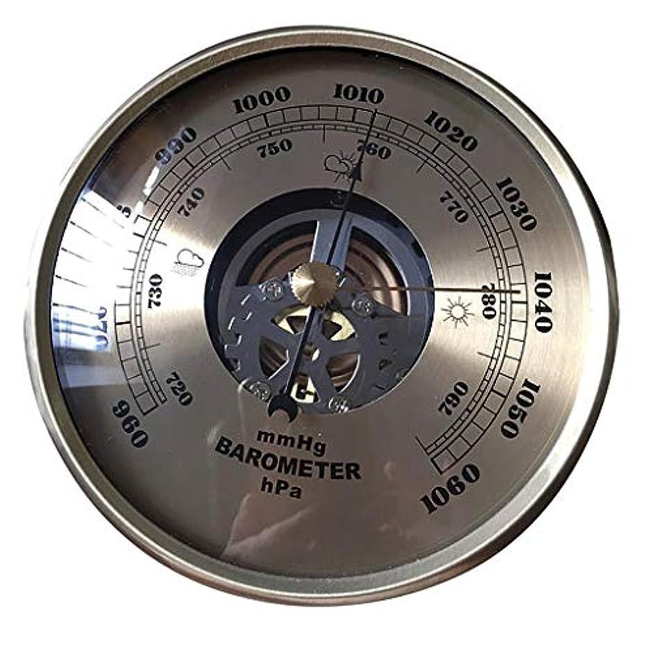ベスビオ山男らしい征服するP Prettyia 気圧計 108mm 円形 ダイヤル 空気 気象観測所 mmHg/HPa