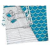 東京西川 掛け布団カバー ブルー シングル スカンジナビアンパターンコレクション イブニングディップ柄 PI094806466