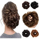 100% Remy Human Hair Up Messy Hair Bun Extension Scrunchie Scrunchy Extensions Hairpiece Do Bun Ponytail Diverse Colors
