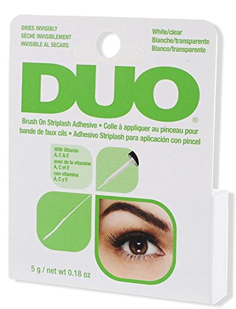 協力する恐れる描くDUO Brush On Striplash Adhesive White/Clear (並行輸入品)