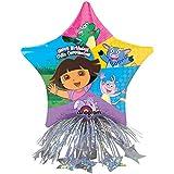Dora Birthday Star Balloon Centerpiece ドラの誕生日スターバルーンセンターピース?ハロウィン?クリスマス?