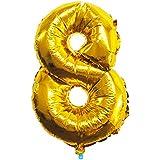 数字バルーン ゴールド 誕生日 ウェディング パーティー 飾り付け 飾り 風船 装飾風船#8