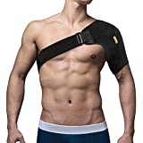 Shoulder Support, Yosoo Adjustable Neoprene Shoulder Brace for Rotator Cuff Injury AC Joint Dislocated Prevention and Recovery One Size Fits Both Left or Right Shoulder