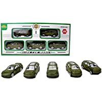 Die-cast Military toy fleet set of 5 assorted vehicles alloy play car army models - a fun set for playing or collecting